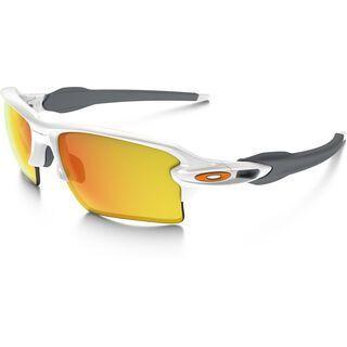 Oakley Flak 2.0 XL, polished white/Lens: fire iridium - Sportbrille