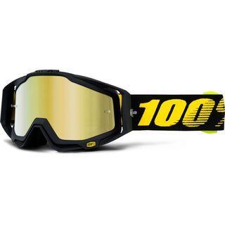 100% Racecraft inkl. Wechselscheibe, raceday/Lens: mirror gold - MX Brille