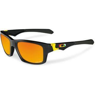 Oakley Jupiter Squared Valentino Rossi, Polished Black/Fire Irdium - Sonnenbrille