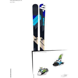 Völkl Set: Shiro Junior 2014 + Marker Squire 11