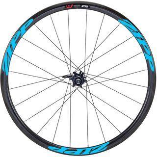 Zipp 202 Firecrest Carbon Clincher Disc-brake, schwarz/blau - Hinterrad