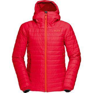 Norrona Women Falketind PrimaLoft100 Hood Jacket, rebel red - Thermojacke