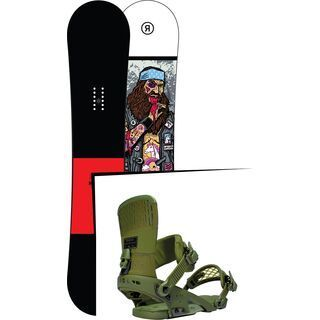 Set: Ride Crook Wide 2017 + Ride Rodeo 2016, forest - Snowboardset