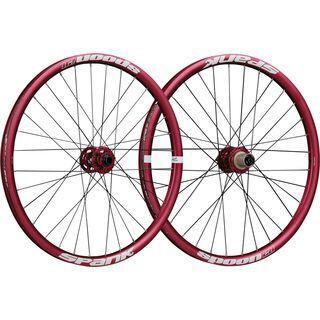 Spank Spoon 28-24 Wheelset, red - Laufradsatz