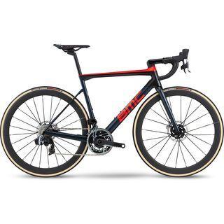 BMC Teammachine SLR01 Disc One 2020, steel blue & neon red - Rennrad