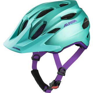 Alpina Carapax Jr., smaragd-violet - Fahrradhelm