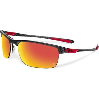 Oakley Carbon Blade Ferrari Collection, polished carbon/ruby iridium polarized - Sonnenbrille