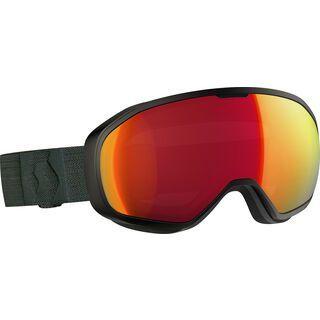 Scott Fix, black/Lens: ampli red chr - Skibrille