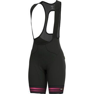 Ale Slide Lady Bibshorts, black fluo pink - Radhose