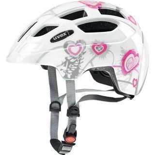 uvex finale junior, heart white pink - Fahrradhelm