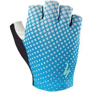 Specialized Women's Body Geometry Grail Short Finger, blue/geo - Fahrradhandschuhe