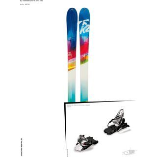K2 SKI Set: SuperBright 90 2014 + Marker Free Ten
