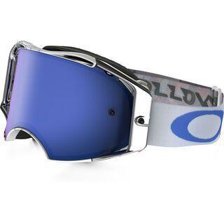 Oakley Airbrake MX, high octane red white blue/Lens: black ice iridium - MX Brille