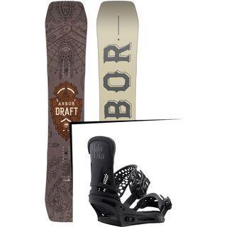Set: Arbor Draft 2017 + Burton Malavita 2017, black - Snowboardset