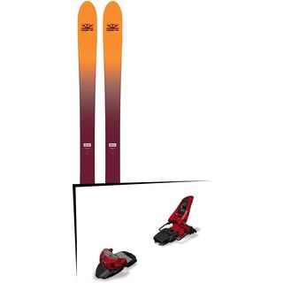 Set: DPS Skis Wailer F99 Foundation 2018 + Marker Squire 11 red