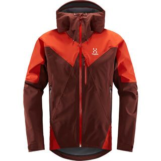Haglöfs L.I.M Touring Proof Jacket Men, maroon red/habanero  - Skijacke