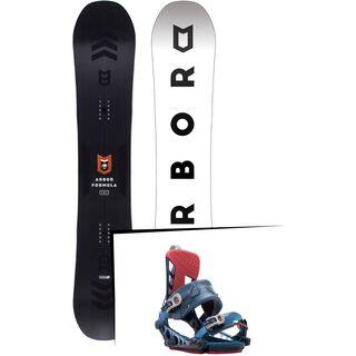 Set: Arbor Formula Mid Wide 2017 + K2 Cinch CTS 2017, blue - Snowboardset
