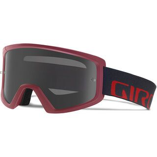 Giro Blok MTB inkl. Wechselscheibe, maroon/slate/Lens: grey silver flash, clear - MX Brille