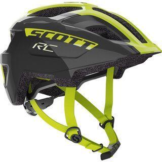 Scott Spunto Junior Plus Helmet, black/radium yellow RC - Fahrradhelm