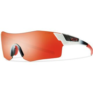 Smith Pivlock Arena inkl. Wechselscheibe, white red fade/Lens: red mirror - Sportbrille