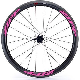 Zipp 303 Firecrest Tubular, schwarz/pink - Hinterrad