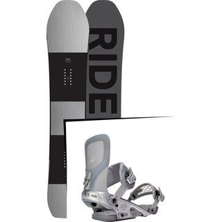 Set: Ride Timeless 2017 + Ride Rodeo LTD 2016, silver - Snowboardset