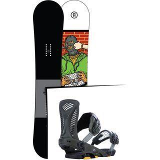 Set: Ride Crook 2017 + Ride Capo 2015, matte olive - Snowboardset