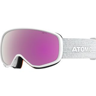Atomic Count S HD, white/Lens: pink/copper hd - Skibrille