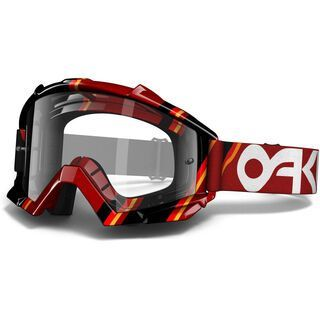 Oakley Proven MX, Red Victory Stripes/Clear - MX Brille
