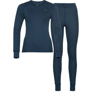 Odlo Women's Active Warm Eco Baselayer Set, blue wing teal
