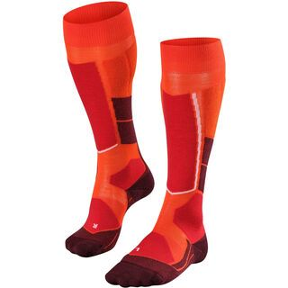 Falke ST4 Wool Damen Kniestrümpfe, samba orange