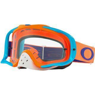 Oakley Crowbar MX, flo orange blue/Lens: clear - MX Brille