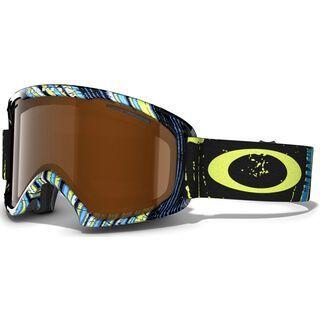 Oakley O2 XL, Stumped Lime Blue/Black Iridium - Skibrille