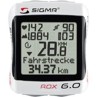 Sigma ROX 6.0, white - Fahrradcomputer