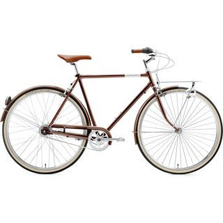 Creme Cycles Caferacer Man Solo, 7 Speed 2015, dark brown - Cityrad