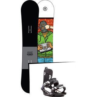 Set: Ride Crook 2017 + K2 Cinch CTX 2017, black - Snowboardset