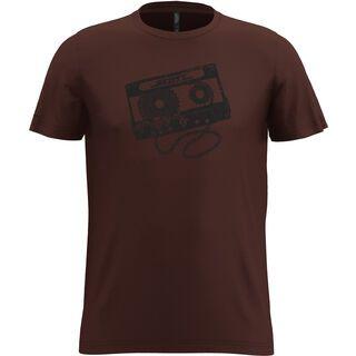Scott 20 Graphic Dye S/Sl Tee maroon red