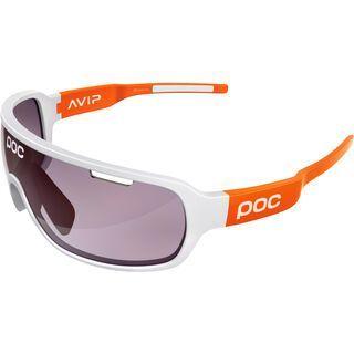 POC DO Blade AVIP, white/orange/Lens: violet silver - Sportbrille