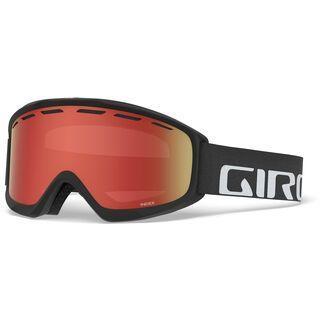 Giro Index, black wordmark/Lens: amber scarlet - Skibrille