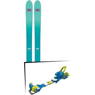 Set: DPS Skis Nina F99 Foundation 2018 + Tyrolia Ambition 12 soldi blue yellow
