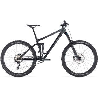 Cube Stereo 160 Race 27.5 2018, black´n´grey - Mountainbike