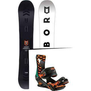 Set: Arbor Formula 2017 + Nitro Zero 2017, shaka - Snowboardset