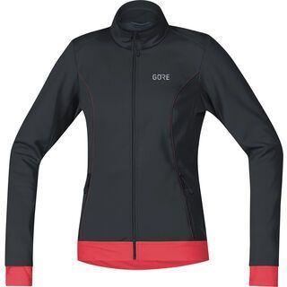 Gore Wear C3 Damen Gore Windstopper Thermo Jacke, black/pink - Radjacke