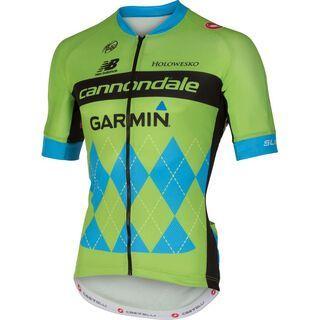 Cannondale Garmin Pro Cycling Team Jersey, green/blue - Radtrikot