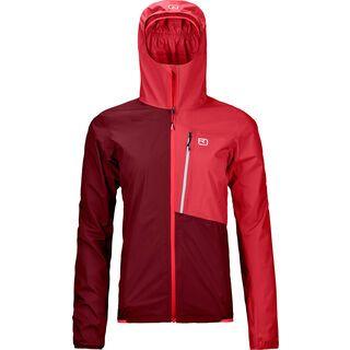 Ortovox Merino Hardshell Light 2.5l Civetta Jacket W, dark blood - Jacke