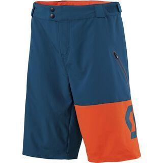 Scott Trail 30 LS/FIT w/Pad Shorts, eclipse blue/tangerine orange - Radhose