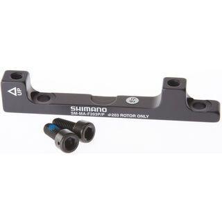 Shimano Scheibenbrems-Adapter von PM-Bremssattel auf PM-Gabel/-Rahmen - HR, 203 mm
