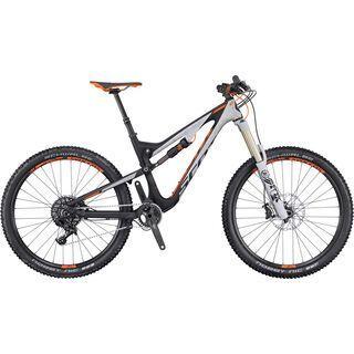 Scott Genius LT 710 2016, black/grey/orange - Mountainbike