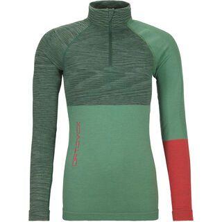Ortovox 230 Merino Competition Zip Neck W, green isar blend - Unterhemd