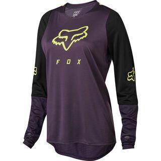 Fox Womens Defend LS Jersey, dark purple - Radtrikot